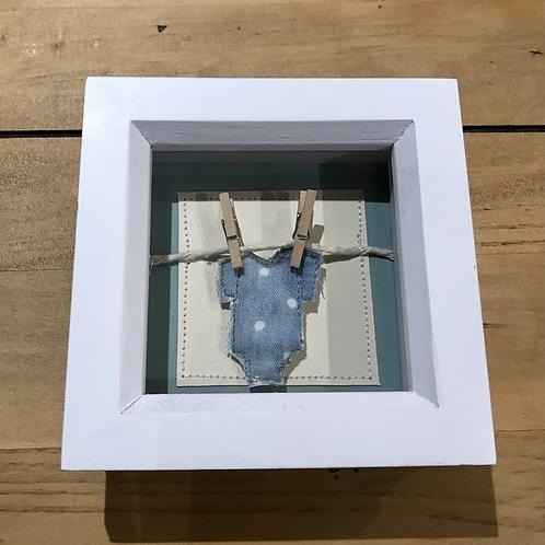 Blue Washing Line Framed Picture