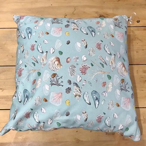 Teal Printed Shell Cushion