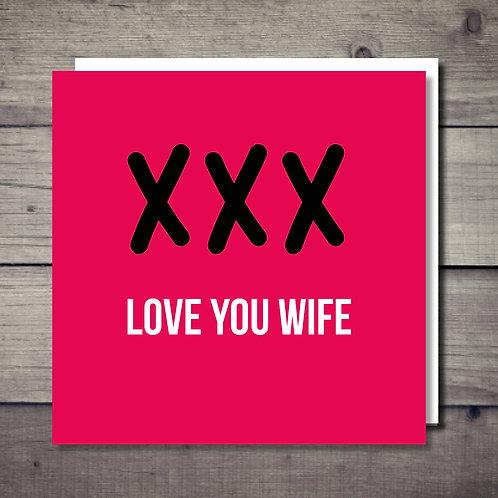 Love You Wife Card