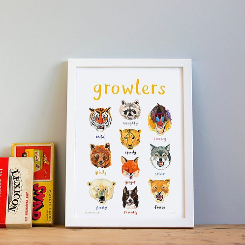 Growlers - A4 Print