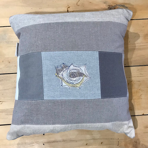 Pastel Shell Embroidered Cushion