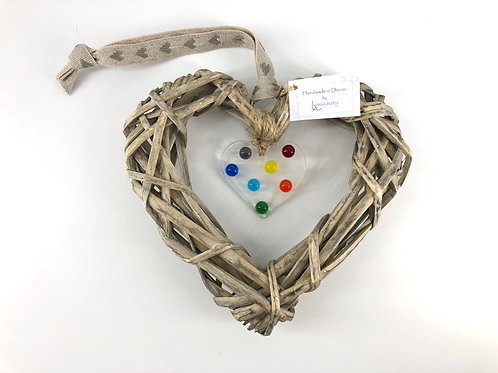 Glass & Wicker Heart Design 2