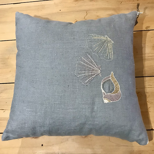 Shell Embroidered Cushion