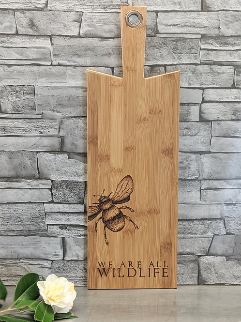 Bee Design with 'We Are All Wildlife' wording