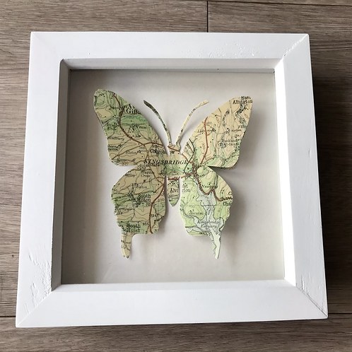 Butterfly Map Picture Featuring  Kingsbridge