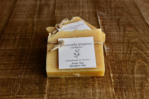 Fruit tea solid shampoo bar, with lemongrass, grapefruit and teatree essential o