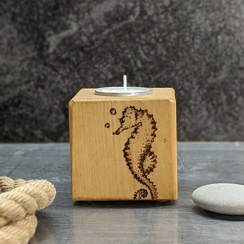 Candle Cube Small, Seahorse