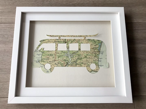 Camper Van Map Picture Featuring Kingsbridge & Torcross