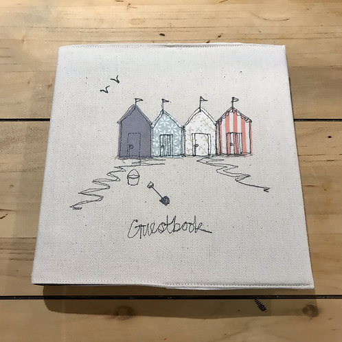 Guest Book with Embroidered Cover