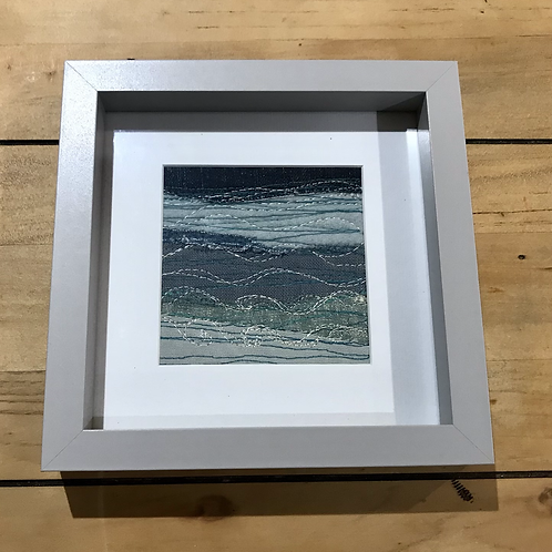 Embroidered Framed Sea View