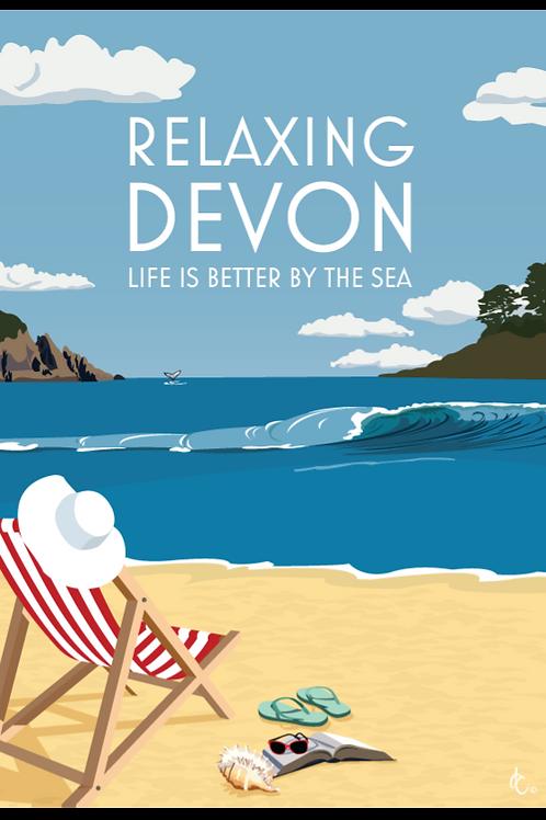 Relaxing Devon Print