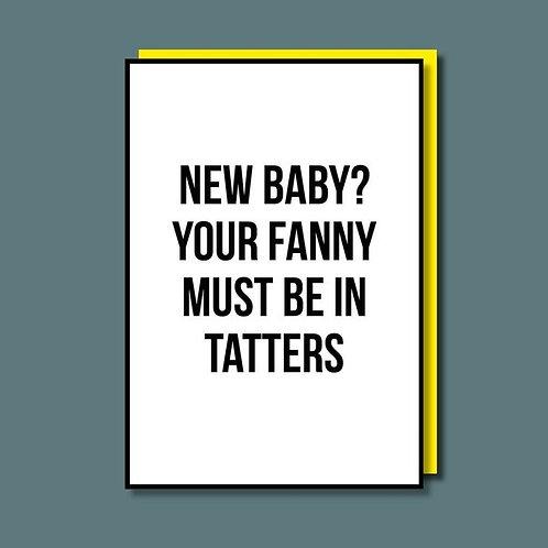 Fanny In Tatters Card