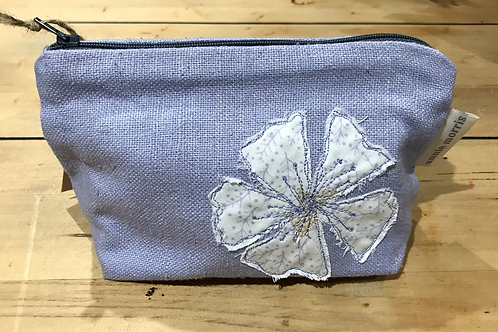 Floral Lilac Cosmetic Purse