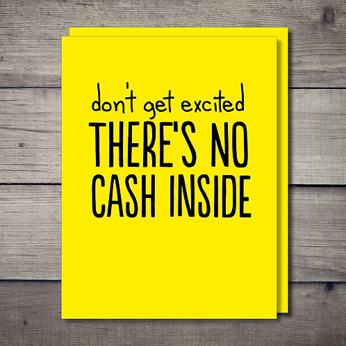 No Cash Inside Card