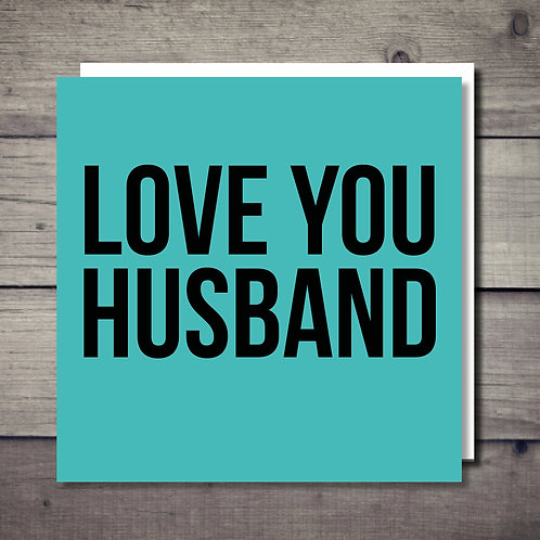 Love You Husband Card