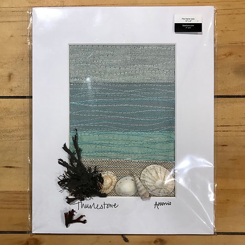 Thurlestone Embroidered Mounted Picture