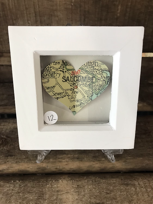 Salcombe Heart Map Picture Small