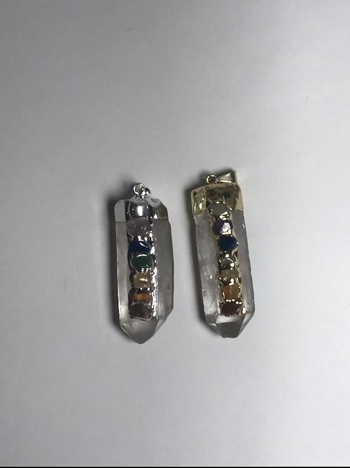 Seven Stone Chakra Crystal Pendant
