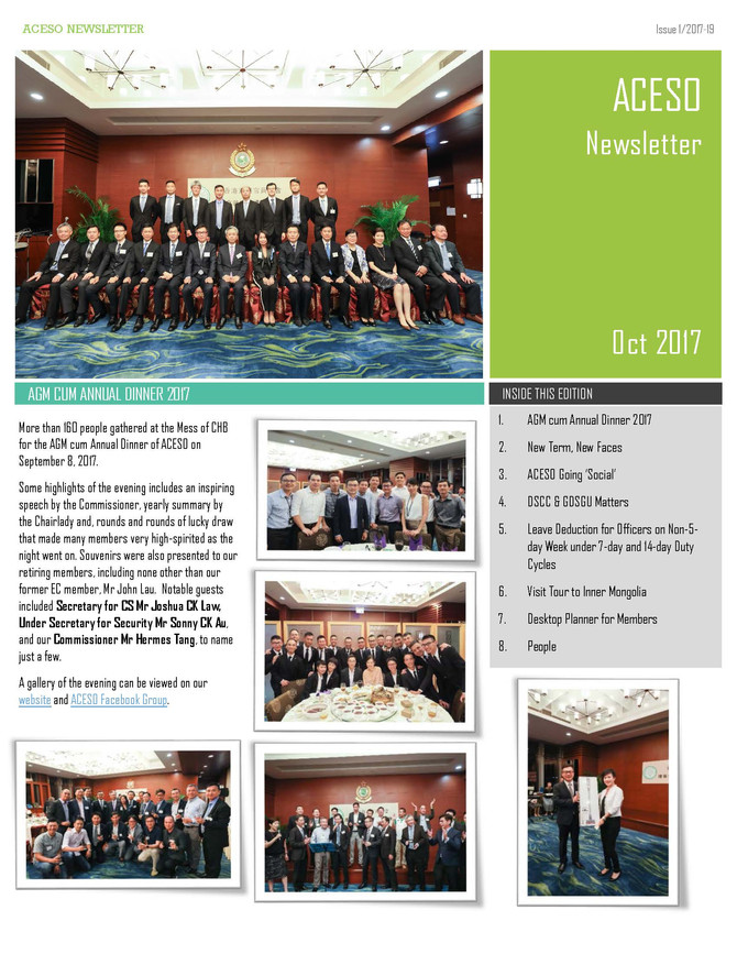 ACESO Newsletter October 2017