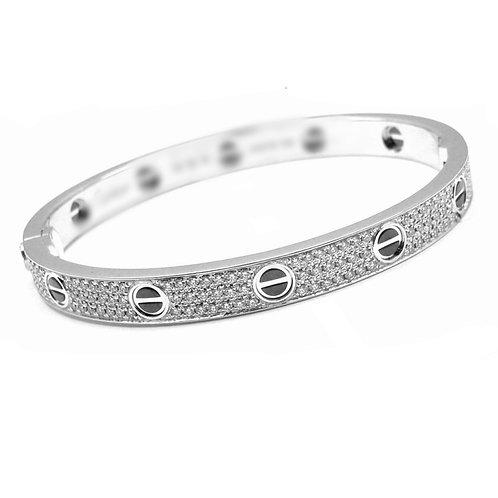 Love bracelet with diamonds