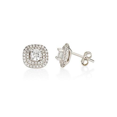 14k white gold 'diamond' earrings