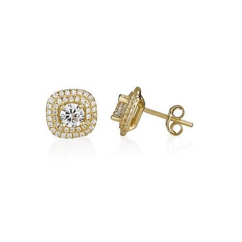 14k yellow gold 'diamond' earrings