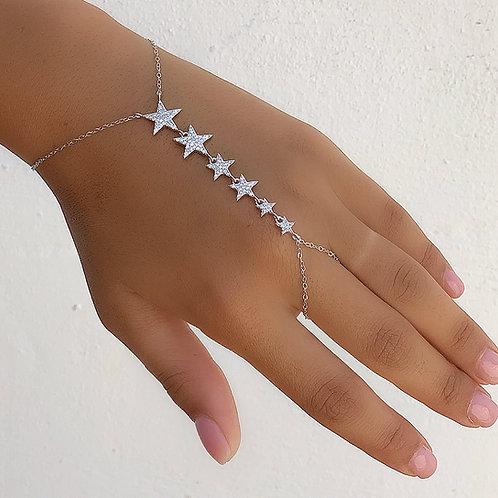Six stars ring bracelet