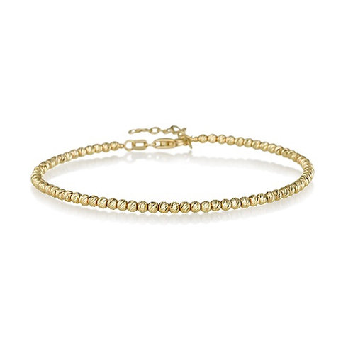 14k gold beads bracelet
