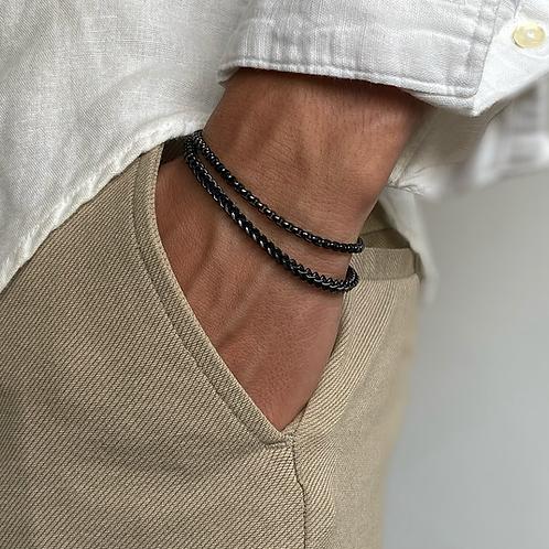 Black Double Bracelet