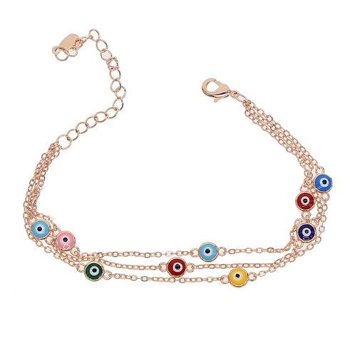 Rose gold eyes bracelet