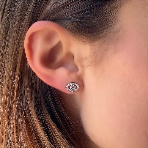 New evil eye earrings
