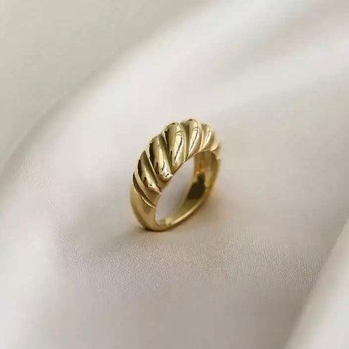 Golden Shell Ring