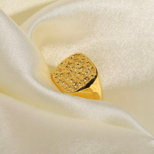 Golden Rugged Ring