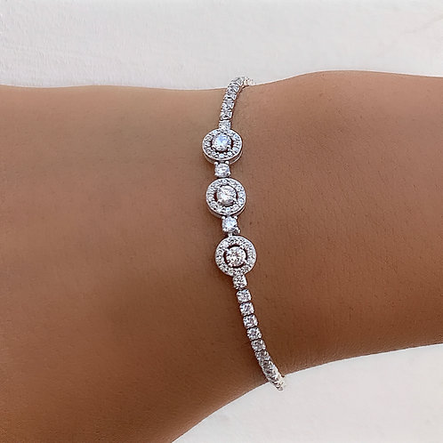 Three circles tennis bracelet