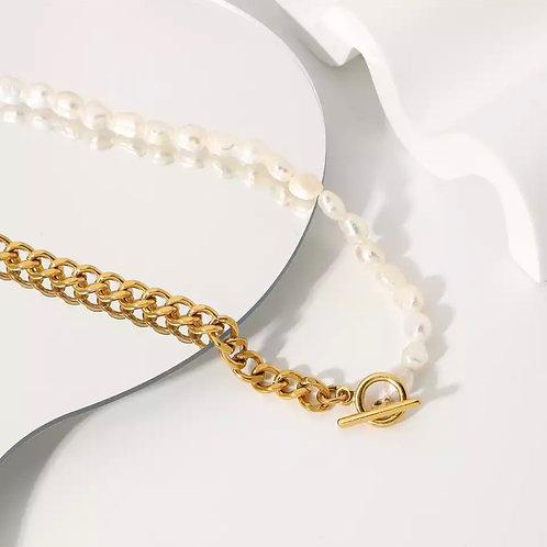 Half Pearls Necklace