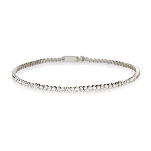 14k white gold tennis bracelet