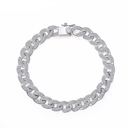 Links bracelet with zircons