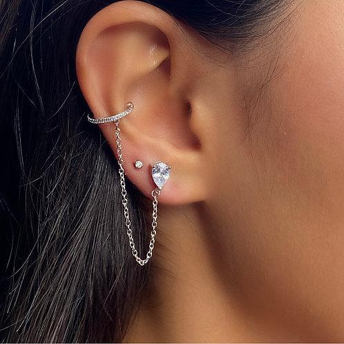 Drop & Chain Earring