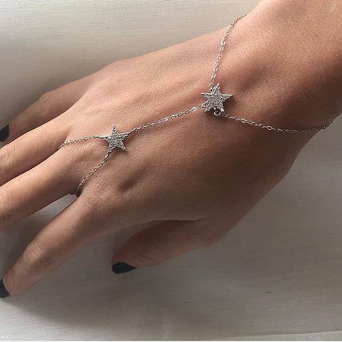 Stars ring bracelet