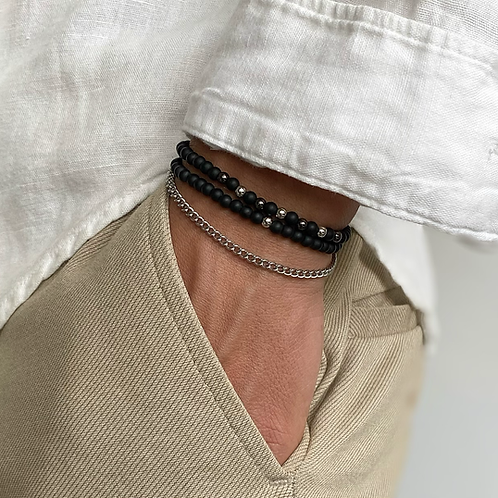Silver Beads Set