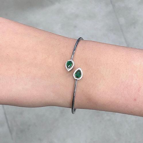 Green drops bangle