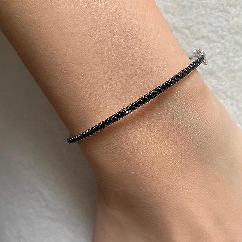 Black zircons bangle