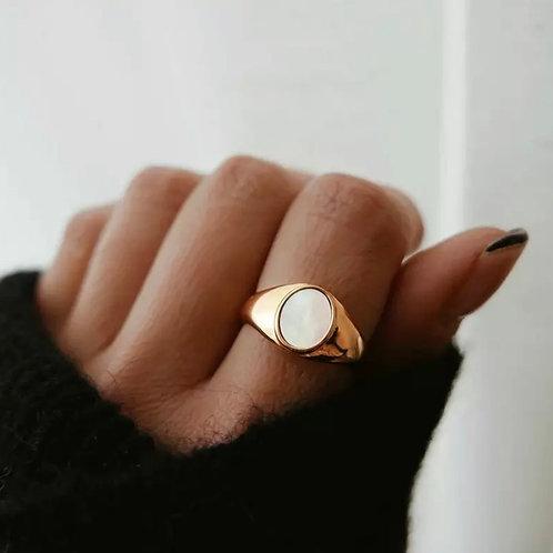 Golden Signature Ring
