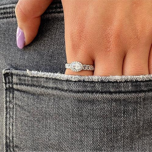 Links & Diamond Ring