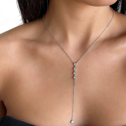 Falling Zircons Necklace
