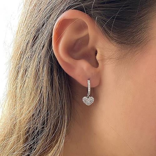 Falling Heart Earrings