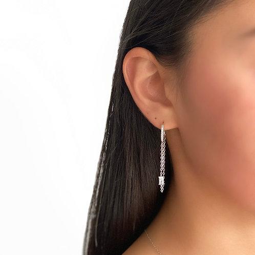 Chain Baguette Earring