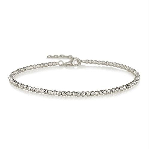 14k white gold beads bracelet