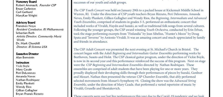 CSP Summer 2020 Newsletter