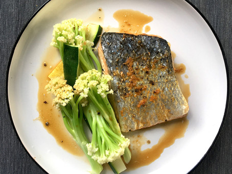 Baked Salmon With Ginger Miso Marinade